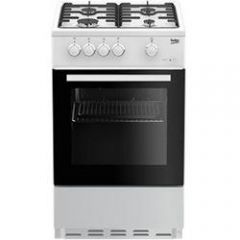 Beko ESG50W 50Cm White Single Cavity Gas Cooker