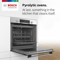 Bosch HBS573BS0B Pyrolytic Built-In Single Oven, Stainless Steel