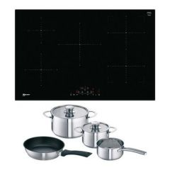 NEFF T48FD23X2 Frameless Induction Hob with CombiZone - FREE INDUCTION PAN SET