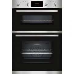 NEFF U1GCC0AN0B Built In Electric Double Oven - Black + Steel