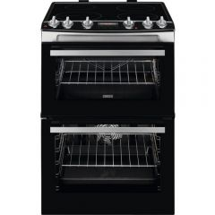 Zanussi ZCI66278XA 60Cm Double Oven Electric Cooker With Induction Hob