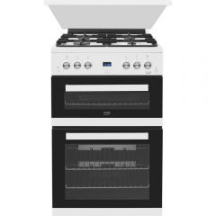 Beko EDG6L33W 60Cm Double Oven Gas Cooker - White