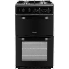 Hotpoint HD5G00KCB 50cm Wide Gas Cooker with Grill - Black