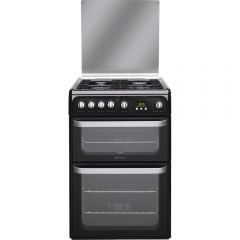 Hotpoint HUG61K 60cm Double Gas Cooker With Lid