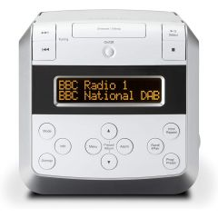 Roberts SOUND48W DAB/DAB /FM/CD stereo clock radio with CD bookmark in White