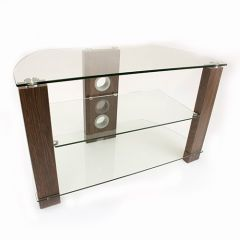TTAP VISION800WC 800 Wide Walnut And Clear Glass Stand