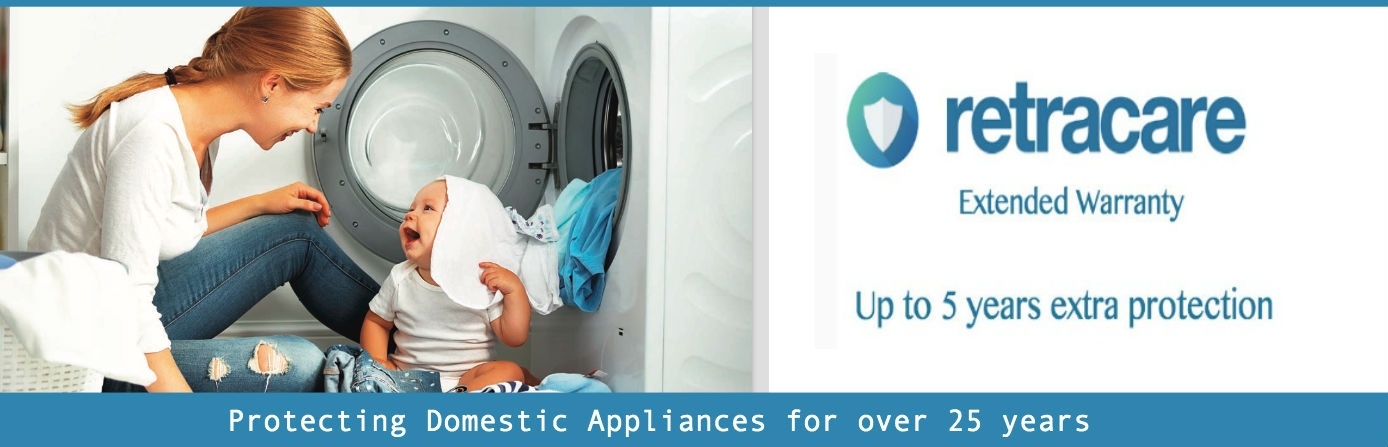 Retracare Extended Warranty, Up to five years extra protection, Protecting Domestic Appliance for Over 25 years.